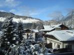 panorama invernale da finestra soggiorno