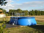 The solar heated shared pool at Le Bois measuring 20' x 12' x 4'