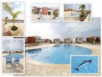 Spacious area around lovely communal pool