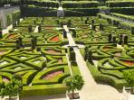 The Loire Valley has an abundance of stunning Chateaux with beautiful gardens - chateau Villandry