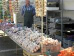 A typical French market stall