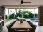 Outdoor entertaining including BBQ