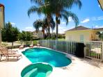 Our stunning pool & pool deck in the Florida sunshine