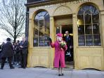 The Queen visiting the Bell foundry at the end of the road (where Big Ben's bell was formed)