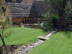 Garden with stream running through
