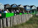 ... or use the land train from Hengistbury Head