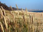 The award-winning Friars Cliff beach at Mudeford