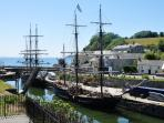 Beautiful Charlestown. Just a couple of miles away. Poldark was filmed here. Plenty of restaurants.