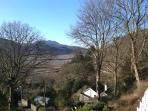 winter view for the terrace at Ar y Graig, self catering holiday cottage, Snowdonia