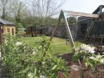 Main garden with climbing frame
