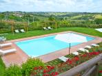 Pool with 2 gazebos
