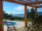 Villarrica lake from our pool.