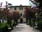 entrance of the villa of Argiano