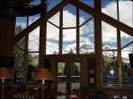 View of Peaks from Lobby Bar