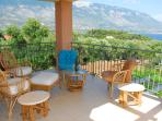 Beautiful Upper Balcony, Superb Panoramic Views of the Sea: Sun or Shade, Sun Rise and Sunsets