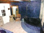 'blue bathroom' on ground floor, ensuite with..
