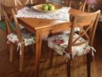 The kitchen table: new pillow cases (home sewn in 2014)