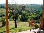 Terrace with a panoramic view and privat garden