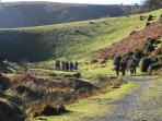 Walking in National Trust Carding Mill Valley (5 miles from Eaton Manor)