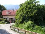 Secluded apartment in this detached villa