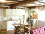 Meadow`s Edge -The bespoke kitchen is compact and very well equipped