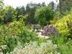 The south facing gardens burst into colour come spring
