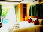 master bed room open to the swimming pool
