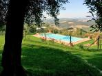 Swimming pool with stunning view over the contry side