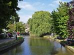 The River Windrush at pretty Bourton-on-the-Water (15 minute drive)