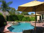Healthy Saline Pool  with Piped Music on Patio
