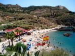 Nearby Cala Cortina Beach