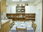 Kitchen, fully equipped and large enough to sit 6 adults.