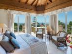 Master bedroom with sea views, en-suite and air-con.