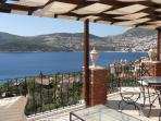 Stunning roof terrace view of Kalkan Bay