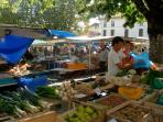 Riberac Market, the largest seasonal produce market in the Dordogne