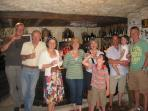 Wine tasting with clients