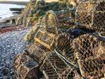 Lobster Pots on Moelfre Beach