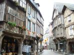 Historic Dinan old town. Old & New town, places of interest, lots shops & restaurants.
