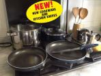 New cookware and kitchen knives