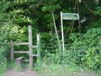 Lots of field and footpath walks near to the cottage.