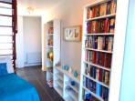 library area with lovely sea views