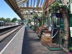 The Poppy Line Station at Sheringham. Take a trip and travel by steam to Weybourne and Holt