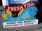 Viviers fish market in Old Portsmouth, 5 min walk from the house