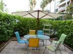 Secure private rear garden/terrace