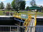 Guests visiting Lock 34 at Fenelon Falls