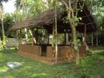 Close view of BBQ hut