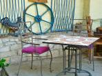 Alfresco eating under the terrace by your door.Great for breakfast evenings when the sun is setting.
