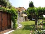 The garden linking the studio to the Villa