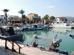 The pretty harbour at Latchi