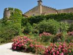 Chateau Ermitage Languedoc France near Pezenas main entrance